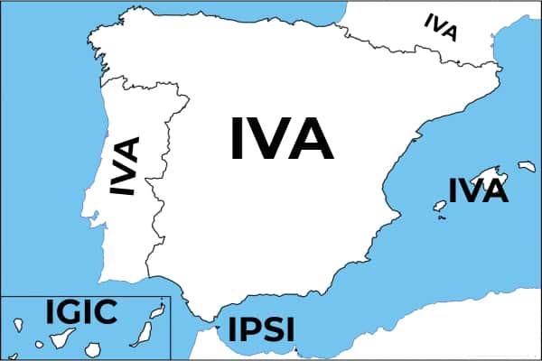 Aplicación del IVA España, Francia y Portugal