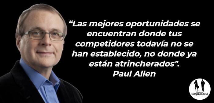 Frases Paull Allen Frases de emprendores para motivarse