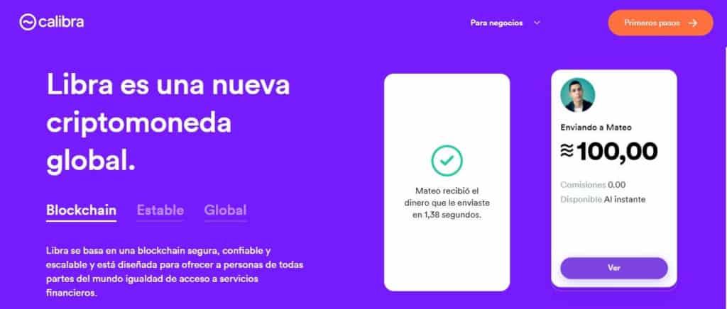 Calibra, sistema de pagos Faceboook Libra