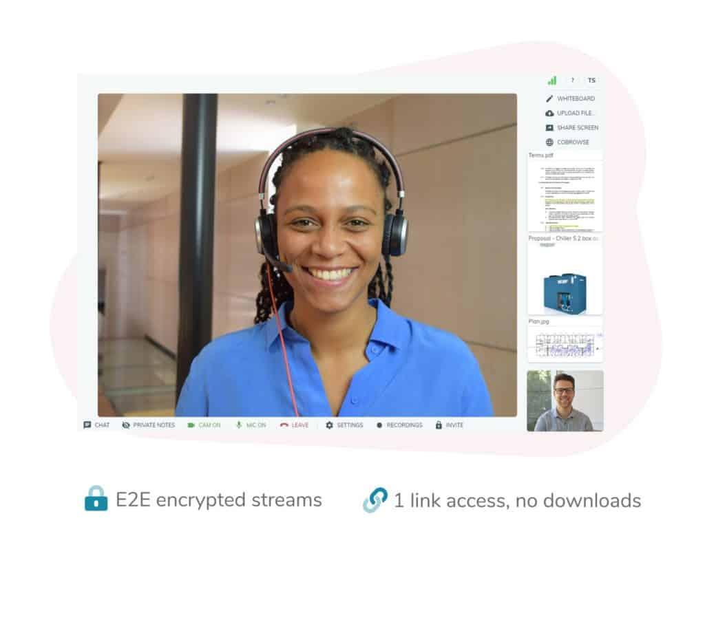Vectera permite realizar videollamadas encriptadas y con un enlace