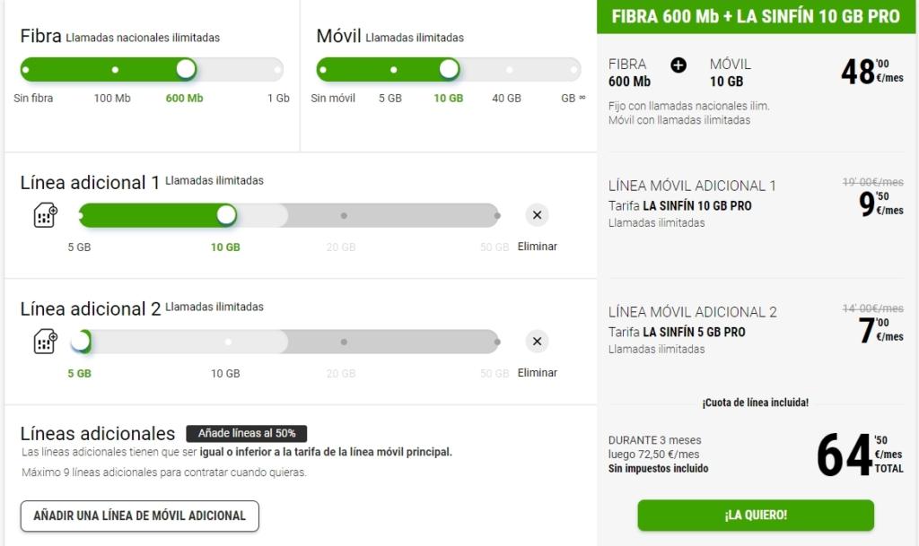 Ofertas líneas Fibra y ADSL para emrpesas Yoigo